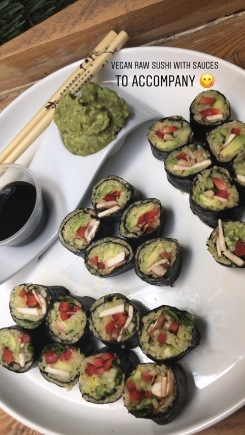Sushi rolls vegan