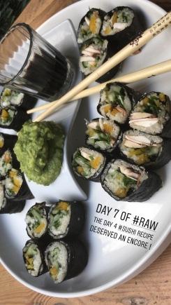 Sushi raw rolls